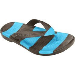 b4790c26d14 Crocs Unisex Beach Line Flip Espresso Electric Blue Sandal Men s 5 ...